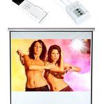 Mucola – elektrische 120 Zoll Beamer Leinwand mit Fernbedienung für 49,90€