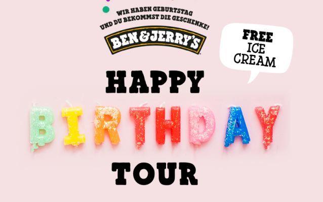 Ben & Jerrys Happy Birthday Tour (Juli/August)   kostenloses Eis in vielen Städten