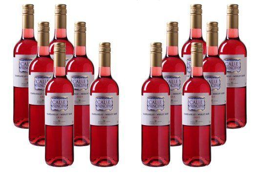 12 Flaschen Calle Principal Tempranillo Merlot Rosé für 39,99€ (statt 60€)