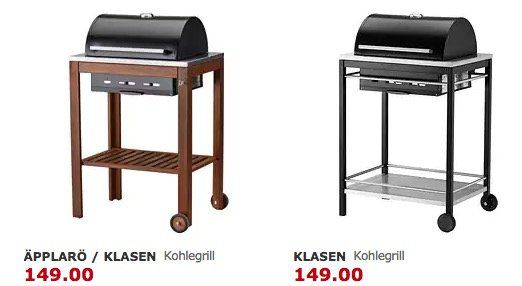 IKEA Grills um bis zu 30% reduziert   z.B. KLASEN Gasgrill ab 199€(statt 249€)