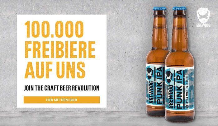 2 Flaschen Punk IPA Bier gratis inkl. Lieferung