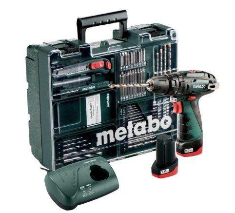 Metabo PowerMaxx BS Basic 10,8V Akku Schlagbohrmaschine + 2 x 2 Ah Akkus + Zubehör für 129,95€ (statt 170€)