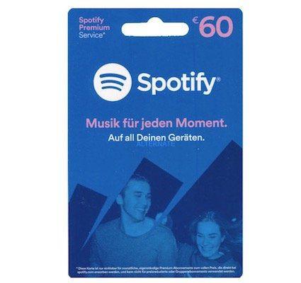 60€ Spotify Guthaben für 50,99€   nur mit Masterpass
