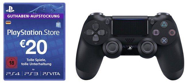 Playstation 4 Controller + 20€ PSN Guthaben für 50,97€   nur via Masterpass