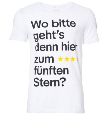 Wo gehts zum 5. Stern? WM 2018 Fan Shirt für je 12,90€