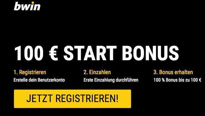 bwin mit 100% Bonus bei bis zu 100€   nur Neukunden