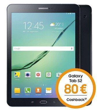 Knaller! Samsung Galaxy Tab S2 9.7 LTE für 29€ + 80€ Cashback + Vodafone DataGo 5GB LTE nur 17,49€ mtl.