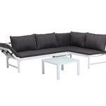 Loungegarnitur aus Aluminium mit Tisch und Kissen für 239€