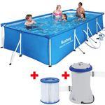 Bestway Pool (400 x 211 x 81cm) mit Pumpe und Filter für 125,95€ (statt 182€) – nur eBay Plus