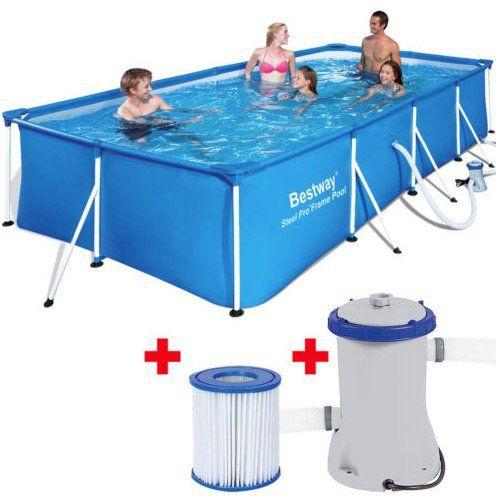Bestway Pool (400 x 211 x 81cm) mit Pumpe und Filter für 125,95€ (statt 182€)   nur eBay Plus