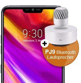 LG G7 ThinQ für 4,99€ + Vodafone Flat mit 2GB für 31,99€ mtl. + gratis LG PJ9 Lautsprecher (Wert 190€)