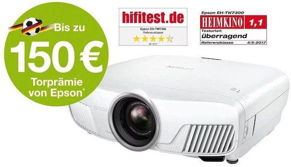 Epson EH TW7300 3D 4K Beamer für 1.549€ (statt 1.775€) + bis zu 150€ Cashback