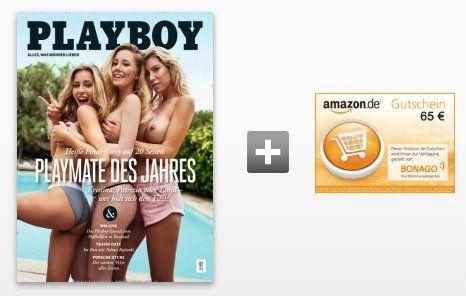 Playboy Jahresabo für 78€ + 65€ Amazon Gutschein