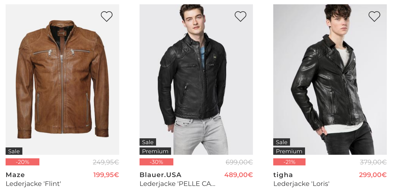 Großer Jacken Sale + 20% Gutschein bei About You   z.B. günstige Marken Lederjacken uvm.