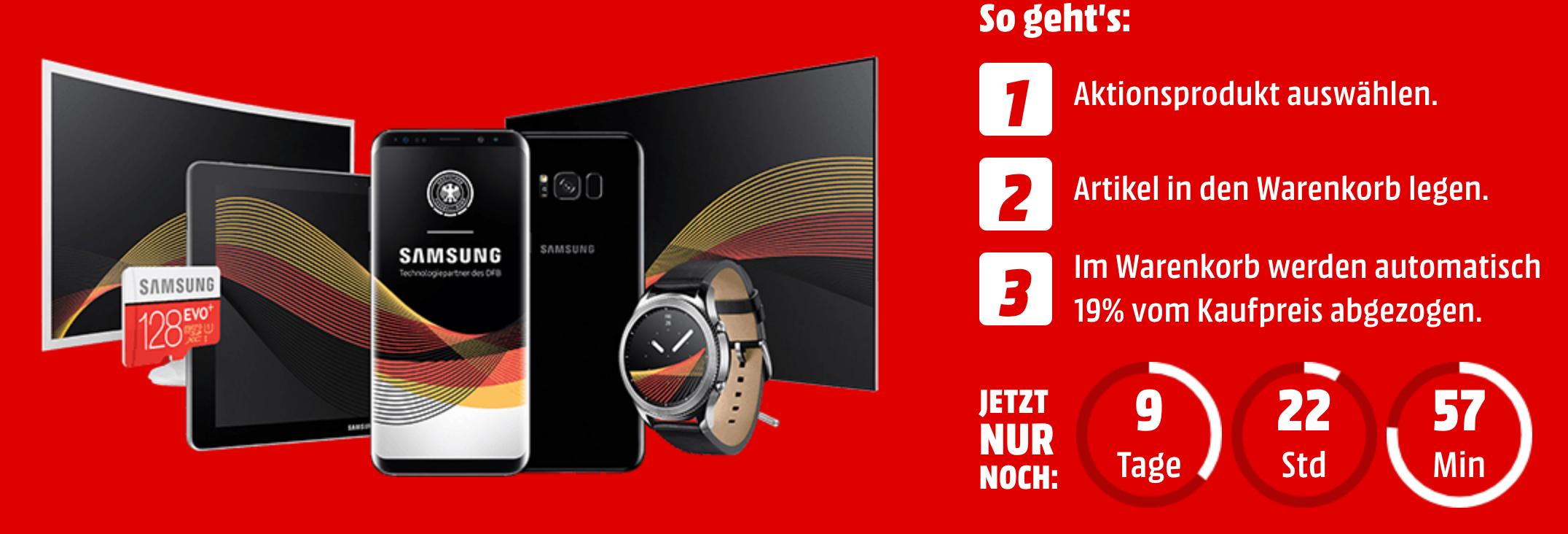 MediaMarkt Samsung Wochen – z.B. SAMSUNG Galaxy Tab S3 für 420€