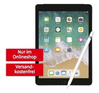 iPad 2018 LTE mit 32GB + Apple Pencil für 69€ + Vodafone 5GB LTE Datenflat für 19,99€ mtl.