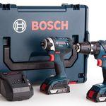 Bosch Combi Drill + Schlagschrauber + 2 x 2,0 Ah + L-Boxx für 228,90€ (statt 275€)