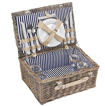 Picknickkorb + 21 teiligem Zubehör für 4 Personen für 29,89€ (statt 43€)