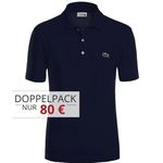 3er Pack Lacoste Waffel-Pique Poloshirts in Regular oder Slim Fit für 110€ (statt 141€)