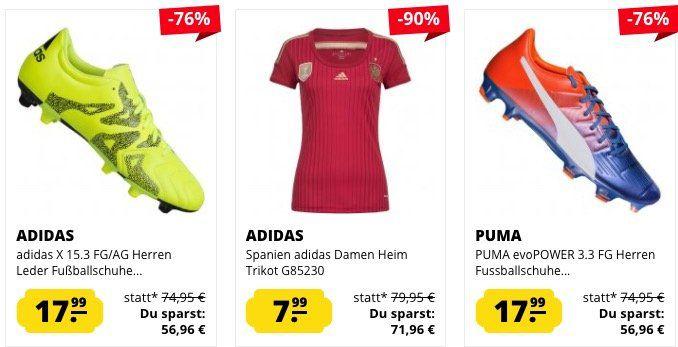SportSpar Mega Sale mit krassen Preisen   z.B. PUMA Vencida Herren Fußball Shorts ab 3,99€