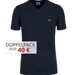 5er Pack Lacoste T-Shirts mit Rundhals oder V-Ausschnitt für 90€ (statt 120€)