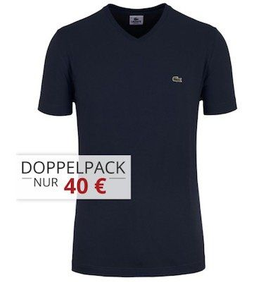 5er Pack Lacoste T Shirts mit Rundhals oder V Ausschnitt für 90€ (statt 120€)