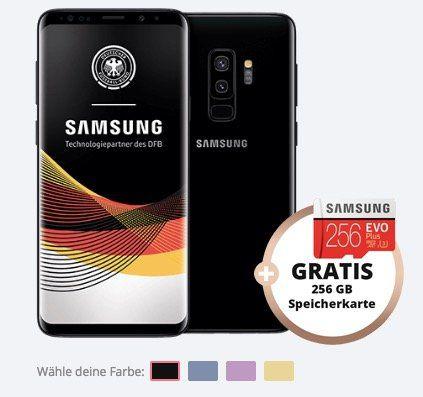 Samsung Galaxy S9+ für 79€ inkl. gratis 256GB Speicherkarte + Vodafone Allnet Flat mit 6GB für 29,99€mtl.