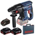 Bosch GBH 18V-20 Akku-Bohrhammer + 2 Akkus je 5 Ah + Ladegerät + Koffer nur 246,49€ (statt 280€)