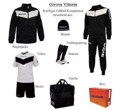 Givova Fußball Sportset mit 8 Teilen (Anzug,Jacke, Trikot, Short etc.) für 48,39€ (statt 64€)