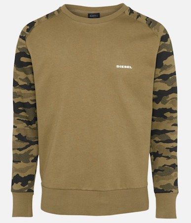 """Diesel Herren Sweatshirt """"Casey"""" mit Camouflage Muster für 23,90€ (statt 49€)"""