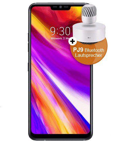 o2 Allnet Flat mit 3GB LTE für 26,99€ mtl. + LG G7 ThinQ für 1€ (statt 667€) + gratis LG PJ9 Lautsprecher (Wert: 177€)