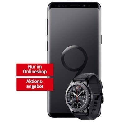 Samsung Galaxy S9 + Galaxy Gear S3 frontier für 49€ + Vodafone Allnet Flat mit 1GB für 26,99€ mtl.