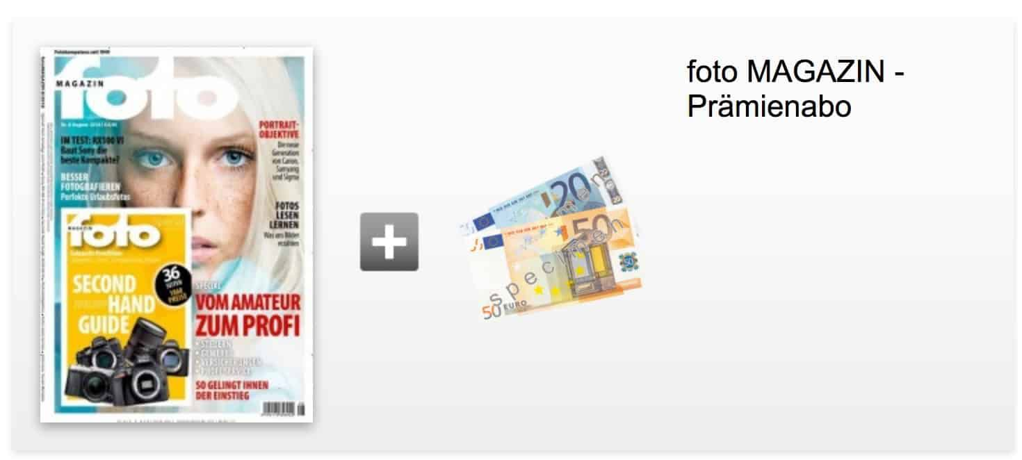 12 Ausgaben vom foto Magazin für 85,20€ + inkl 75€ Amazon Gutschein