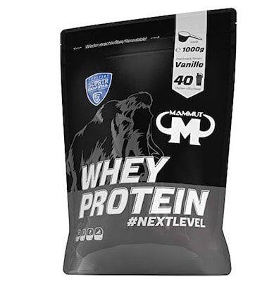 Vorbei! 1kg Mammut Whey Protein Vanille für 6,99€ (statt 15€)   Plus Produkt