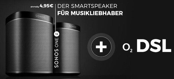 o2 DSL Angebote   z.B. DSL M mit 50 Mbit/s für 19,37€ mtl. + Sonos One für 4,95€ + Kombi Vorteil möglich (bis zu 10€ Rabatt mtl.)