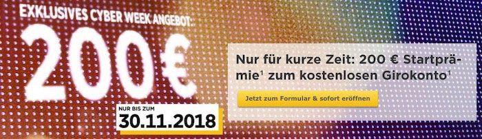 Letzter Tag! Kostenloses Commerzbank Girokonto mit 200€ Startguthaben   nur 0,01€ Mindestgeldeingang mtl.