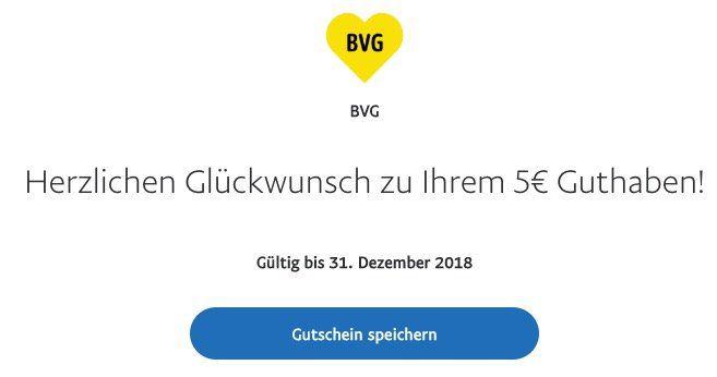 Wieder da! 5€ Rabatt auf BVG Tickets dank Paypal Zahlung über die BVG Ticket App