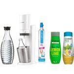 SodaStream Crystal 2.0 Wassersprudler Set mit 2 Glaskaraffen + 2 x Sirup für 99,99€ (statt 125€)