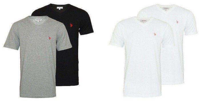 4er Pack U.S. POLO ASSN. Rund  oder V Neck Herren T Shirts für 26,34€