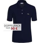 3er Pack Lacoste Waffel-Pique Poloshirts in Regular Fit für 125€ (statt 155€)