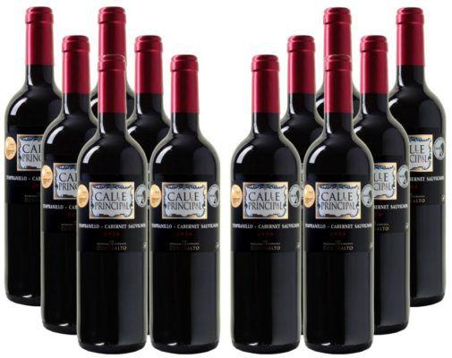 Calle Principal Sauvignon Vino de la Tierra Castilla 12 Flaschen Rotwein für 39,96€ (statt 55€)