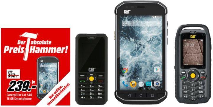 Media Markt Preishammer: CAT Outdoor und Baustellen Handys ab 44€
