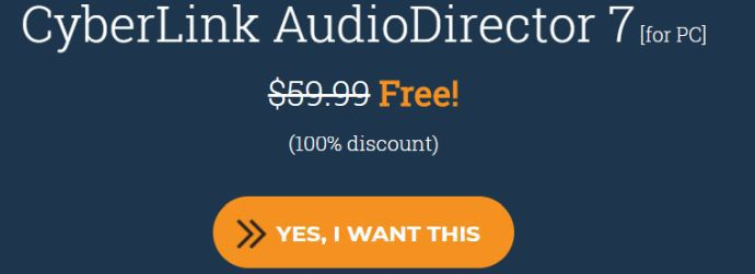 CyberLink AudioDirector 7 (Lifetime Lizenz, Windows) kostenlos