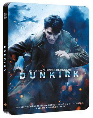 Dunkirk als Steelbook Blu ray für 9€ (statt 17€)