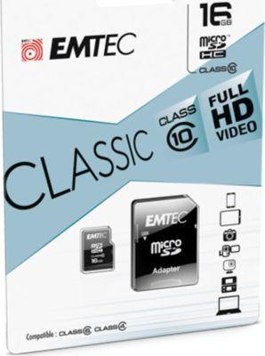 Emtec microSDHC 16GB Class10 Classic Speicherkarte für 6,66€