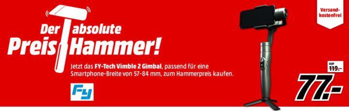 FY TECH Vimble 2   Smartphone Gimbal für 77€ (statt 93€)