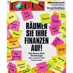 13 Ausgaben Focus für 58,50€ + 54,60€ Verrechnungsscheck