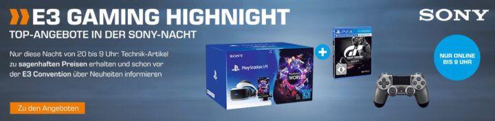 Saturn E3 Gaming Highnight: z.B. PS4 Wireless Dualshock 4 Controller für 39€ (statt 58€)