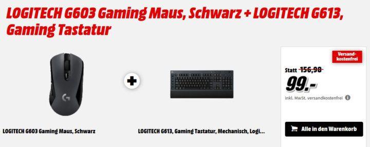 Logitech Gaming Bundle: G613 Tastatur + G603 Maus für 99€ (statt 150€)