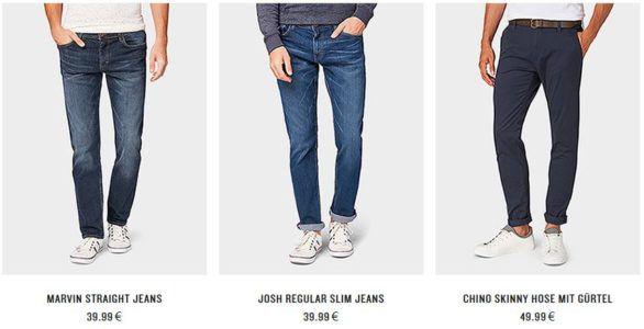 Tom Tailor mit 20% auf alle Herren Jeans ab 80€   bis Mitternacht